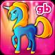Rainbow Horse Pony Unicorn Decoration Salon 2 by GamesBox
