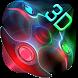 3D Neon Colors Fidget Spinner Theme by Elegant Theme