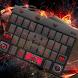 Flame luxury car keyboard by Brandon Buchner