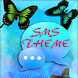 Blue Butterfly Theme GO SMS by Workshop Theme