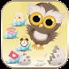 Cute Cartoon Owl Theme Wallpaper by LXFighter-Studio
