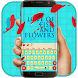 Love of fish and flowers keyboard