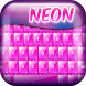 Neon Pink Keyboard by Abrassi Design Apps