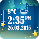 Night Clock With Weather by The World of Digital Clocks