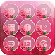 Pink Rose Theme Love Memory by Amazing Wallpaper & Themes