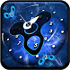 Blue Clock Fidget spinner Screen Locker Theme by android themes & Live wallpapers