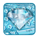 Blue Nile diamond emoji Keyboard Theme by android themes & Live wallpapers