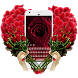 Red Heart Rose Keyboard Theme