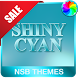 Shiny Cyan Theme for Xperia by NotSoBright