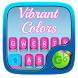 Vibrant Colors keyboard Theme by Keyboard Fashion New