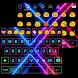 Electric Neon Emoji Keyboard by Colorful Design