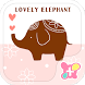 Lovely Elephant wallpaper- by +HOME by Ateam