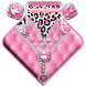 Pink Leopard Zipper Theme by Launcher Fantasy