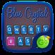 Blue Crystal GO Keyboard Theme by Keyboard Fashion New