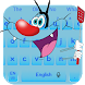 Blue Cute Cat Keyboard by FREE 2018 MADDY MANJREKAR THEMES AND KEYBOARDS!