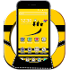 Comic yellow cartoon 2d theme(FREE) by android themes & Live wallpapers