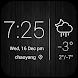 Minimal Style Weather Widget by Clock & Weather Theme Dev Team