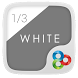 1/3 of White GO Launcher Theme by Freedom Design