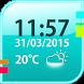 Simple Weather Widget by The World of Digital Clocks