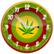 Rasta Weed Clock Widget by Customize My Phone