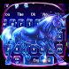 Neon Galaxy Unicorn Keyboard Theme by Super Cool Keyboard Theme