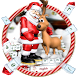 Merry Christmas theme keyboard with Santa Claus by Cool Theme Creator