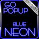 Blue Neon GO Popup theme by modo lab