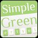 Simple Green Keyboard Theme by Echo Keyboard Theme