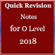 Quick Revision Notes for O Level by Hina