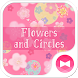 Cute Theme-Flowers and Circles by +HOME by Ateam