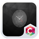 Black Clock C Launcher Theme by Best theme workshop
