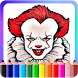 How To Color Pennywise IT (pennywise wallpaper) by AdamStudios