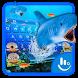 3D Ocean Shark Keyboard Theme by Fashion Cute Emoji