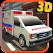 Ambulance driver 3d simulator by Wacky Studios -Parking, Racing & Talking 3D Games