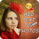 Add Text on Photo by Laxmisoft Technologies