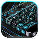 Tech Black Blue Keyboard by Super Cool Keyboard Theme