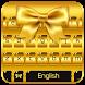 Glitter Gold Keyboard Theme by Keyboard Dreamer