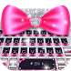 Glitter Bowknot Cute Emoji Keyboard Theme by Pretty keyboard Theme for Android