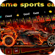 Luxury Speeding flame Racing Keyboard Theme