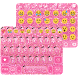 Pink Glitter Keyboard Theme by Colorful Art