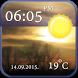 Cool Clock and Weather Widget by Apiju Fenfo