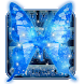 Dream butterfly blue glow&starry sky neon keyboard