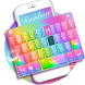 Keyboard-Glass Rainbow Colorful Super 3D Theme by Best Design Keyboard Theme - 2018 Android