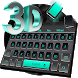 3D Black Keyboard Theme by Keyboard Theme Factory