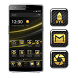 G1 - High Tech Glossy Black by Best Free Android Themes