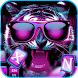 Neon tiger Keyboard Theme – hiphop tiger wallpaper by NeoStorm We Heart it Studio