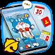 Doroamon Cartoon Anmie Blue Theme by free cool launcher theme