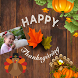Happy Thanksgiving Greeting Cards Maker For Wishes by stickers photo editor