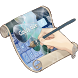 Cloudy blue Keyboard Skin by Free Themes for Keyboard