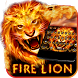 Red Hot Fire Lion Keyboard by Best Free Android Themes